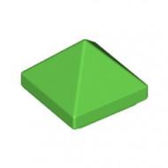 22388-36 DakNOK 45 graden PYRAMIDE 1x1 2/3 hoog top 4 zijdig groen, helder NIEUW *1B000