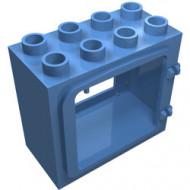 2332-42G Deurframe vlak met 2 clips blauw, midden gebruikt *