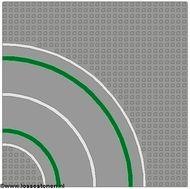 2359p01-9G Wegenplaat 32x32 gebogen MET FIETSPAD Grijs, licht (classic) gebruikt loc