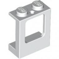 2377-1 Raam 1x2x2 in paneel- 2 gaten onderin- glas:4862 (loc 04-04) wit NIEUW *1L0000