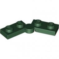 2429c01-80 Scharnierplaat 1x4 compleet (horizontaal 2 x 1x2) (loc 01-09) groen, donker NIEUW *1L300