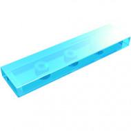 2431-15G Tegel 1x4 transparant lichtblauw gebruikt *1L0000