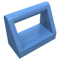 2432-42 Tegel 1x2 met hendel bovenop blauw, midden NIEUW *1L321