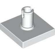 2460-1 Tegel 2x2 met pin wit NIEUW *1L0000