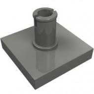 2460-85 Tegel 2x2 met pin grijs, donker (blauwachtig) NIEUW *1L0000
