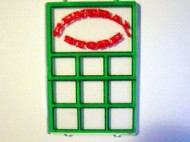 2494pb04-12G Glas voor raam 1x4x5 met General Store Sticker transparant gebruikt *0B000