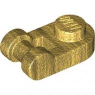26047-115 Platte plaat 1x1 afgerond met hendel goud, parel NIEUW *1L294