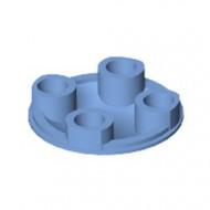 2654-42 Platte plaat 2x2 rond afgeronde bodem blauw, midden NIEUW *1L137