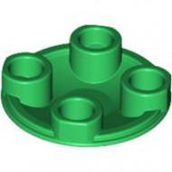 2654-6 Platte plaat 2x2 rond afgeronde bodem groen NIEUW *1L137