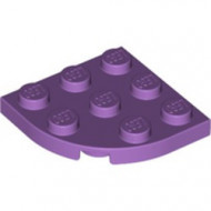 30357-157 Platte plaat 3x3 afgeronde hoek lavender, midden NIEUW *5G000