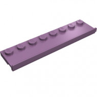 30586-54 Platte plaat 2x8 met deurrail (breed) paars, zandkleurig NIEUW *1L291/7