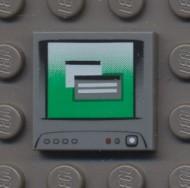 3068bpb0058-85 Tegel 2x2 Groen computerscherm grijs, donker (blauwachtig) NIEUW *
