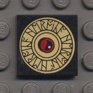 3068bpb0420-11 Tegel 2x2 Runeteken Zwart NIEUW loc