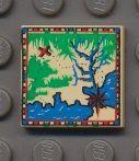 3068bpx24-2 Tegel 2x2 Landkaart met rand Crème NIEUW loc