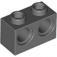 32000-85G Technic, steen 1x2 met 2 gaten grijs, donker (blauwachtig) gebruikt *