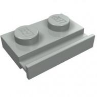 32028-9 Platte plaat 1x2 met deurrail lichtgrijs (klassiek) NIEUW *1L290/5