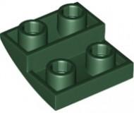 32803-80 Omgekeerde dakpan 2x2 rond groen, donker NIEUW *1B000
