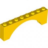 3308-3G Steen, boog 1x8x2 hoog (niet-verhoogd) geel gebruikt *1R000