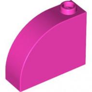 33243-47 Steen, 1x3x2 ronde top 90 graden massief roze, donker NIEUW *1L0000
