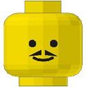 3626bp03-3G Man met kleine puntige snor links-rechts geel gebruikt *0B0000