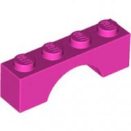 3659-47G Steen, boog 1x4x1 hoog roze, donker gebruikt *