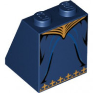 3678bpb011-63 Dakpan bedrukt 65 2x2x2 Rok blauw, donker gebruikt *0K000
