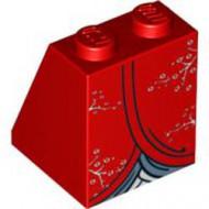 3678bpb025-5 Dakpan bedrukt 65 2x2x2 Rok Kimono gebruikt *0K000