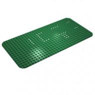 374p01-6G Basisplaat 16x32 (ronde hoeken) dots set 350 groen gebruikt *3K000