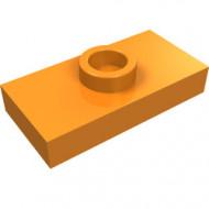 3794-4 Platte plaat 1x2 met 1 nop (loc 01-5) ZIE OOK 15573 oranje NIEUW *1L233/11