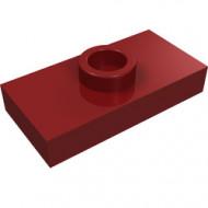 3794-59 Platte plaat 1x2 met 1 nop (loc 01-5) ZIE OOK 15573 rood, donker NIEUW *1L233/11