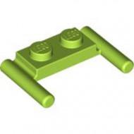 3839b-34 Platte plaat 1x2- 2 hendels lagere setting lime NIEUW *1L319/11