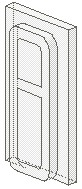 4036-12G Glas voor klein treinraam (met ribbel) 1x2x3 Transparant NIEUW loc