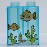 4066pb280-15G DUPLO steen 1x2x2 Aquarium Tr,lichtblauw gebruikt loc