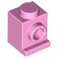 4070-104 Steen 1x1 met koplamp roze, helder NIEUW *1L033