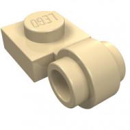 4081b-2 Platte plaat 1x1 met gesloten clip (dikke ring) crème NIEUW *1L289/5