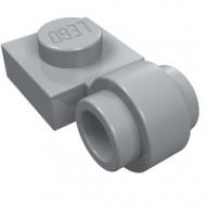 4081b-86 Platte plaat 1x1 met gesloten clip (dikke ring) grijs, licht (blauwachtig) NIEUW *1L187/1