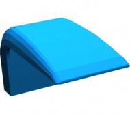 4086-7G Autodak rechte hoek Blauw gebruikt loc (PAKKETZENDING