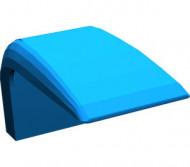 4086-7G Autodak rechte hoek (PAKKETPOST!) blauw gebruikt *