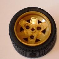 41896c04-115 Wiel 43.2mm doorsnede met platte autoband 41897 Goud- Parel (NIEUW)