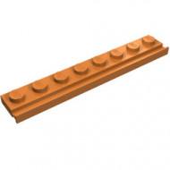 4510-150 Platte plaat 1x8 met deurrail/dakgoot caramel, midden NIEUW *1L291/6