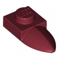 49668-59 Platte plaat 1x1 met tand IN VERLENGDE rood, donker NIEUW *1L290/3