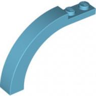 6060-156 Steen, boog 1x6x3 1/3 (90 graden) blauw, middenazuur NIEUW *1L000