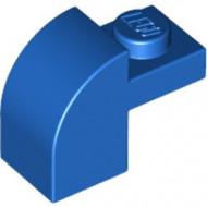 6091-7G Steen 2x1 met afgeronde kop en nop blauw gebruikt *1L0000