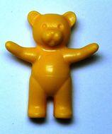 6186-31 Teddybeer (Belville) (voorpoten omhoog) oranje, midden NIEUW *0D000