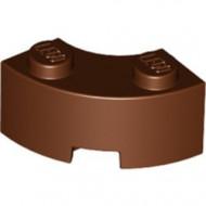 85080-88 Steen 2x2 gebogen (Macaroni) NIEUWE STIJL (andere bodem) bruin, roodachtig NIEUW *1B000