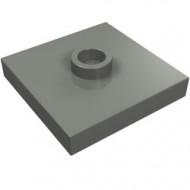 87580-85 Platte plaat 2x2 1 centrale nop grijs, donker (blauwachtig) NIEUW *1L235