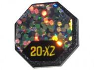 890pb01-11 Verkeersbord- achthoekig glitter en 20x2 (zie paal 30256) wit gebruikt *