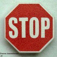 890px1-1 Verkeersbord- STOP achthoekig clip-on (zie paal 30256) wit NIEUW *