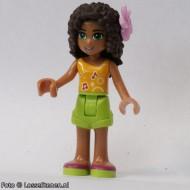frnd094 Friends- Andrea, lime shorts, helderoranje topje NIEUW loc