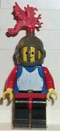 cas179G Chain Mail - blauw, Grill helm, Black benen, rode Hips, rode armen, rode Plume gebruikt loc